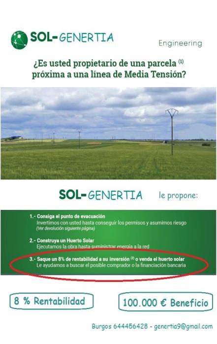 RENTABILICE SU FINCA CON ENERGÍA SOLAR